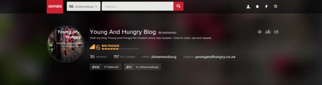 Young And Hungry Blog, Johannesburg   Zomato