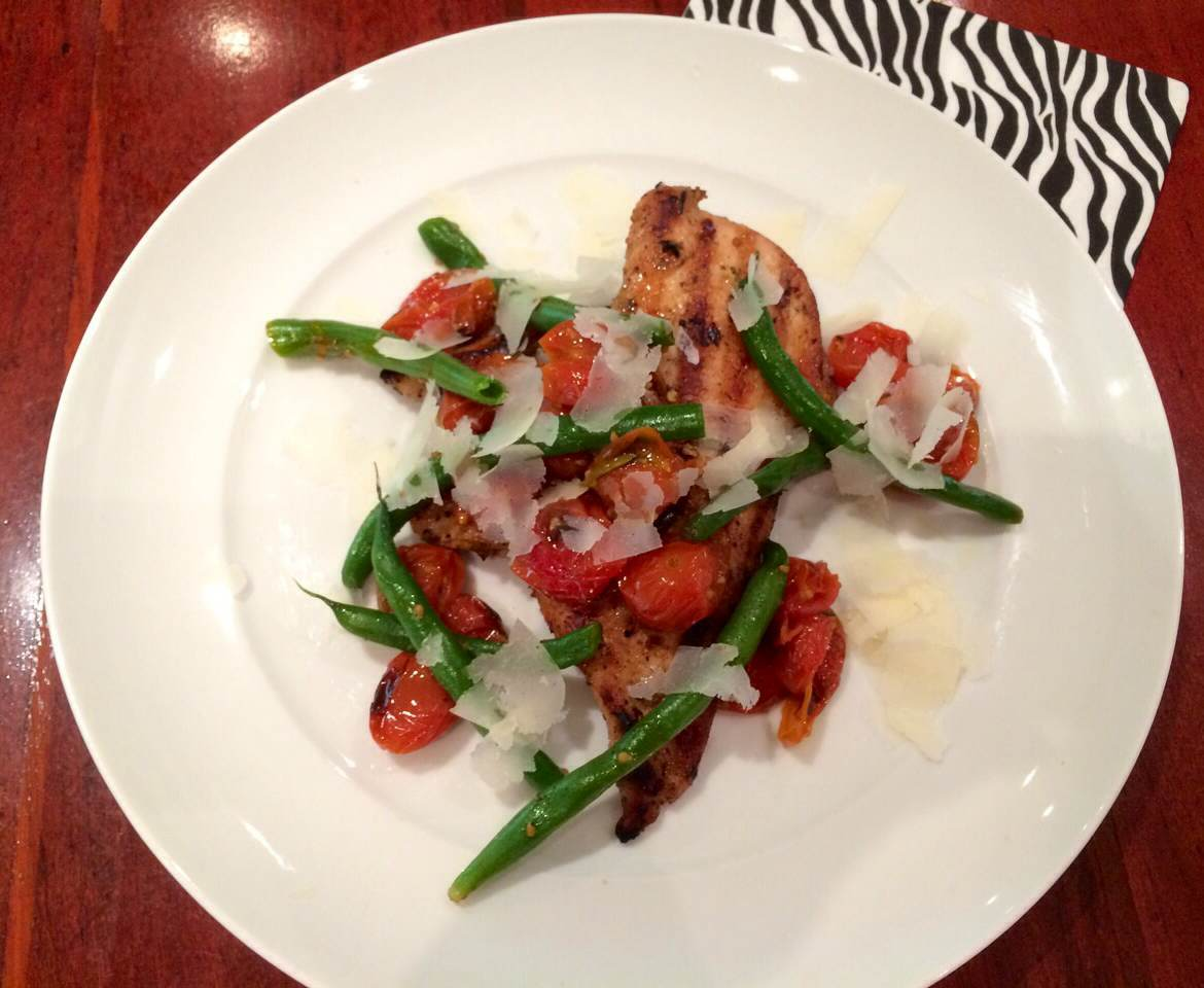 Grilled Chicken with a Warm Green Bean Salad – Young and ...