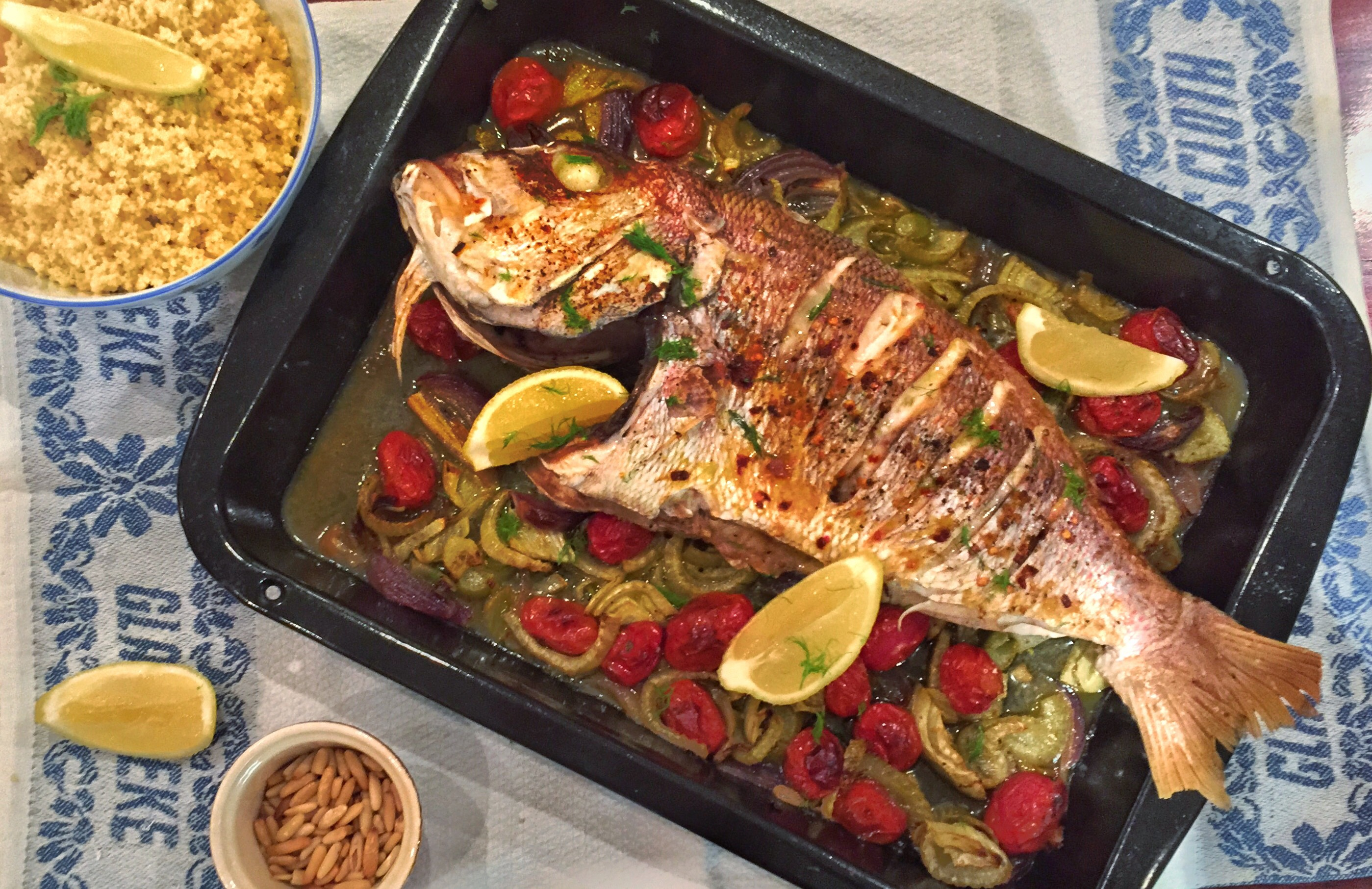 Cooking whole fish in oven for Fish in oven